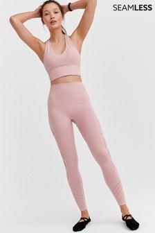 Pink Seamfree Sports Crop Top