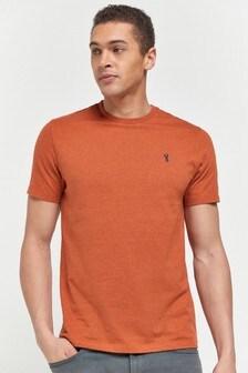 Orange Marl Regular Fit Stag T-Shirt