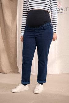 Seasalt Maternity Blue Waterdance Dark Indigo Wash Trousers
