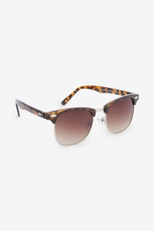 Tortoiseshell Effect Preppy Sunglasses