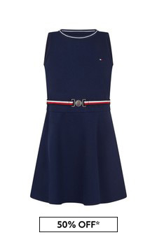 Tommy Hilfiger Girls Navy Dress