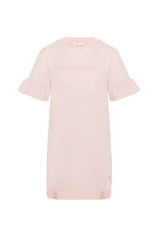 Carrement Beau Girls Pink Cotton Dress