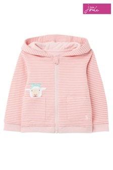 Joules Pink Tenley Character Zip Sweat Top