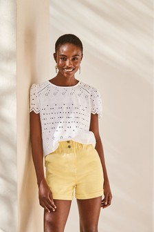 White Broderie T-Shirt