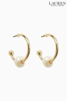 Lauren Ralph Lauren Pearl Hoop Earrings