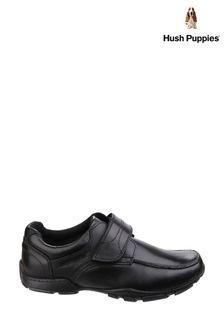 Hush Puppies Black Freddy 2 Senior School Shoes