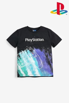 Black PlayStation™ Galactic Controller T-Shirt (3-16yrs)