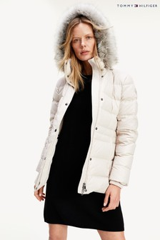 Tommy Hilfiger White Tyra Down Jacket