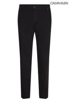 Calvin Klein Black Tapered Garment Dye Trousers