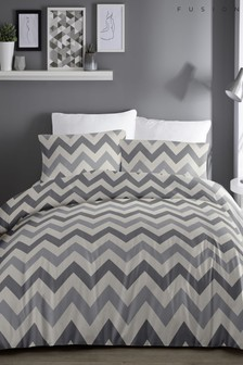 Fusion Chevron Duvet Cover and Pillowcase Set