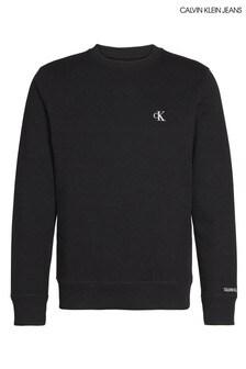 Calvin Klein Jeans Black Essential Logo Sweatshirt