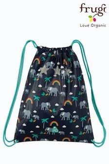 Frugi Recycled Plastic PE or Swim Bag - Navy Elephants