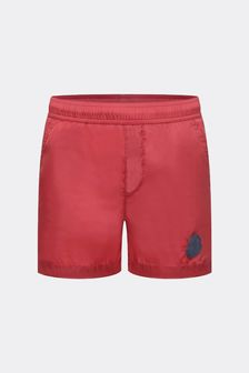 Boys Red Logo Swim Shorts