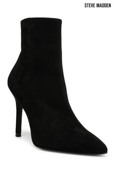 Steve Madden Black Suede Clover Boots