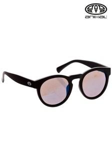 Animal Black Rebound Round Frame Sunglasses