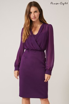 Phase Eight Purple Sian Scuba Dress