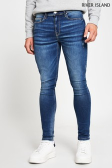 River Island Blue Medium Mustang Spray On Jeans