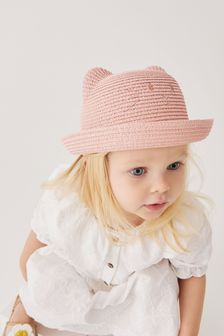 Pink Straw Hat (Younger)