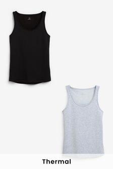 Black/Grey Next Elements Brushed Thermal Camis 2 Pack