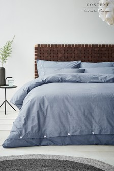 Washed Texture Duvet Cover and Pillowcase Set by Content by Terence Conran