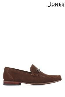 Jones Bootmaker Brown Suede Frederick Leather Men's Loafers