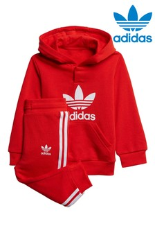 adidas Originals Infant Trefoil Hoodie And Joggers Tracksuit