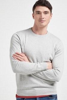 Grey Pure Cotton Jumper
