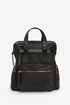 Black Multi-compartment Rucksack
