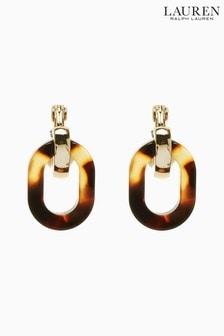 Lauren by Ralph Lauren Link Linear Clip-On Earrings