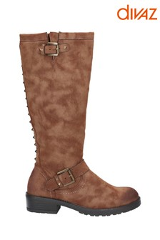 Divaz Courtney Zip Up Boots