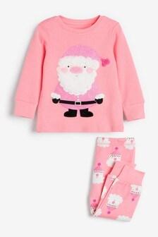 Pink Santa Christmas Pyjamas (3-12yrs)