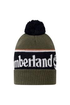 Boys Khaki Cotton Bobble Hat