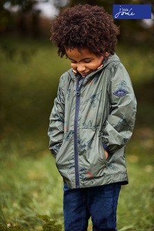 Joules Green Arlow Print Waterproof Printed Packaway Jacket