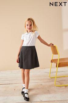 Grey 2-In-1 Short Sleeve Pinafore Dress (3-14yrs)