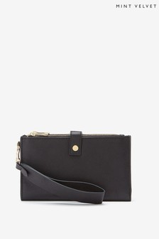 Mint Velvet Black Leather Multi Purse