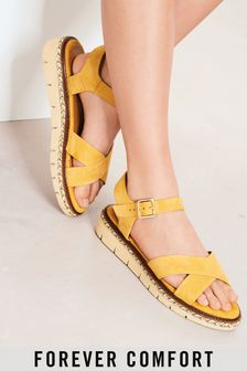 Ochre Regular/Wide Fit Forever Comfort® Flatform Sandals