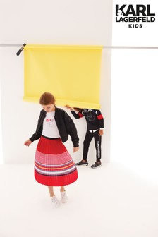 Karl Lagerfeld Kids Red Midi Skirt
