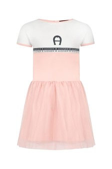 Aigner Baby Girls Pink Cotton Girls Dress