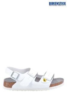 Birkenstock White Milano ESD Sandals