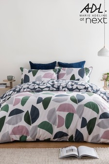 Marie Adeline at Next Curve Geo 100% Organic Cotton Duvet Cover and Pillowcase Set