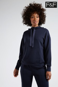 F&F Navy Modal Ribbon Sweat Top