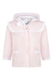 Patachou Baby Girls Pink Cotton Coat