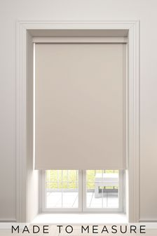 Haig Beige Natural Made To Measure Blackout Roller Blind