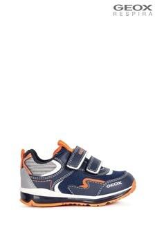 Geox Baby Boys Todo Navy/Fluro Orange Shoes