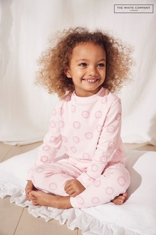 The White Company Pink Lion Print Pyjamas