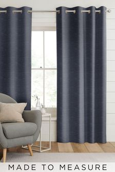 Jasper Indigo Blue Made To Measure Curtains