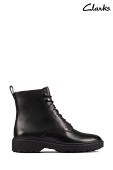 Clarks Black Leather Witcombe Hi 2 Boots