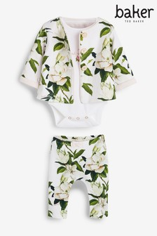 Baker by Ted Baker Baby Girls 3 Piece Jacket Set