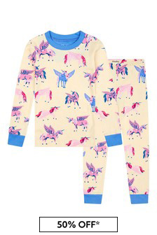 Hatley Kids & Baby Girls Cream Mystical Unicorns Organic Cotton Pyjama Set