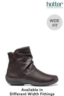 Hotter Whisper Zip Fastening Ankle Boots